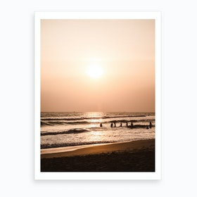 Sunset Beach 1 Art Print