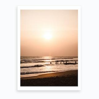 Sunset Beach 1 Art Print