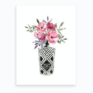 Blooms In Bottle Art Print