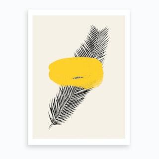 Tropical Leaf Yellow Art Print