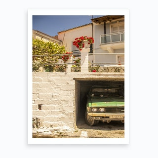 Greek Parking  Art Print