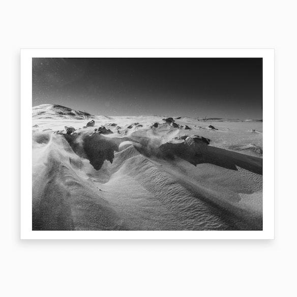 63a16b31eb1 Snow Desert Art Print by Art Lasovsky - Fy