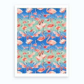 Flamingo Pink Art Print