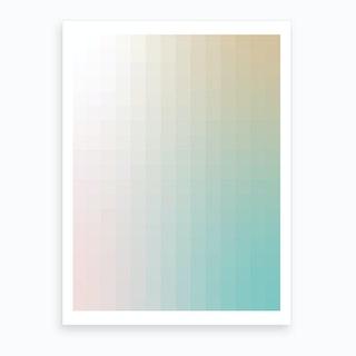 Gradientblocks 11 Art Print