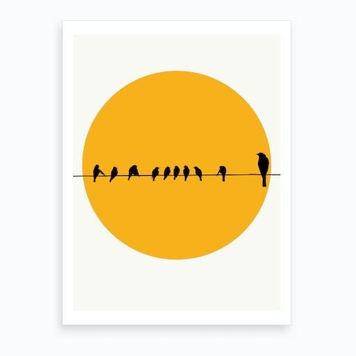Sleeping Birds Art Print