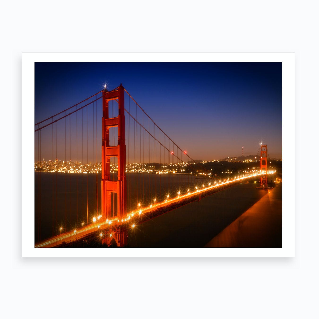 Evening Impression of Golden Gate Bridge Art Print