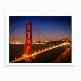 Evening Impression of Golden Gate Bridge Art Print