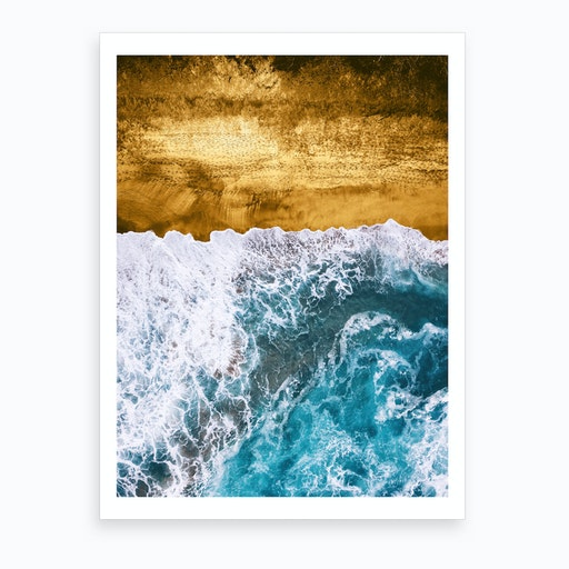 Tropical XVI   Golden Beach Art Print