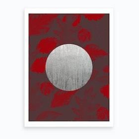 Silver Moon Red Art Print