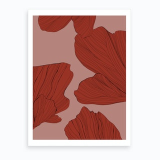 Twilight Petals Art Print