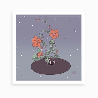 Ikebana In Space Art Print