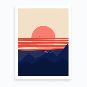 Minimal Sunset 4 Art Print