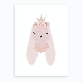 Princess Bunny Art Print