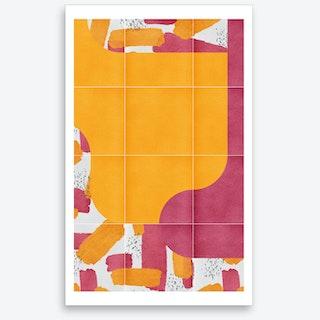 Bold Painted Tiles 03 Art Print