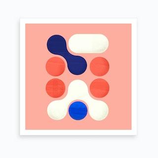 Shapes  Modern Geometry No2 .1 Art Print