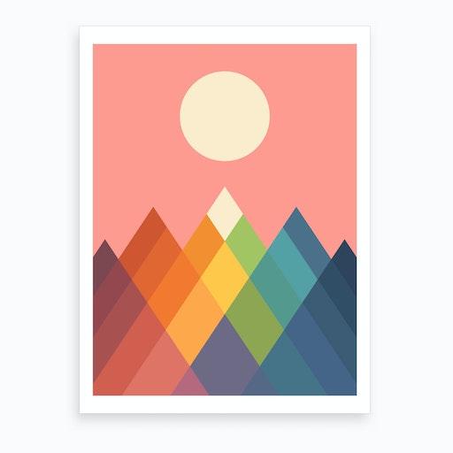 Rainbow Peak  Art Print