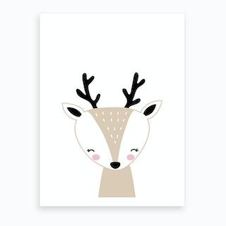 Scandi Reindeer Art Print