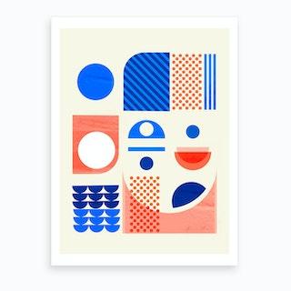 Mid Century Abstract Art Print
