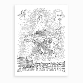 Triton Fountain In Rome Art Print