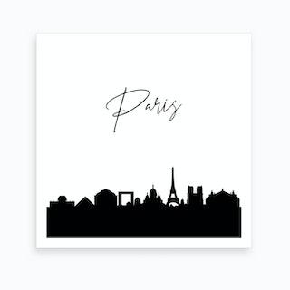 Paris Skyline Art Print