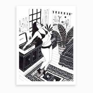 She Likes To Dance In Her Room While She Gets Changed Art Print