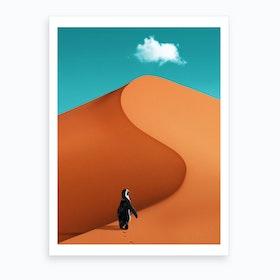 Penguin On Vacation Art Print