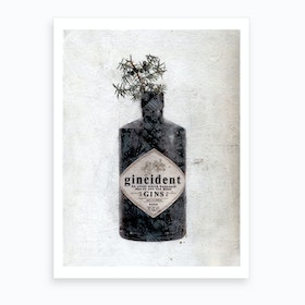 Gincident Bottle Art Print