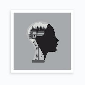Ava Square Art Print