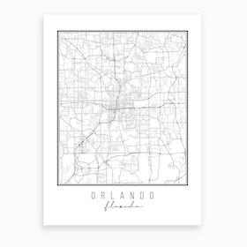 Orlando Florida Street Map Art Print