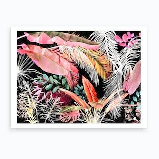 Tropical Foliage 5 Art Print