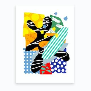 Malibu Polka 1 Art Print