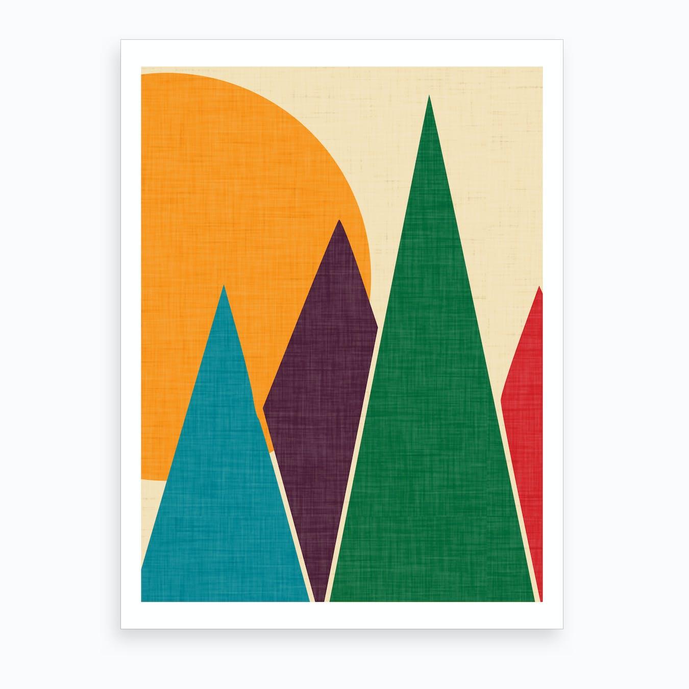 Wondering Solar Mountain Art Print