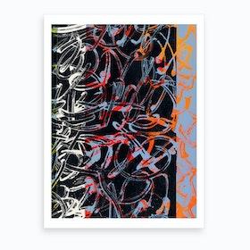 Graffiti Orange V Art Print
