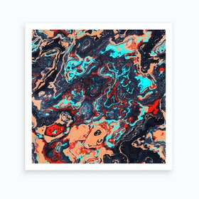 Abstract Marble V Art Print