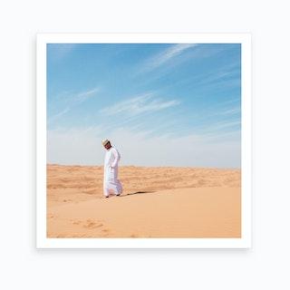 Arab In Middle East Desert Art Print