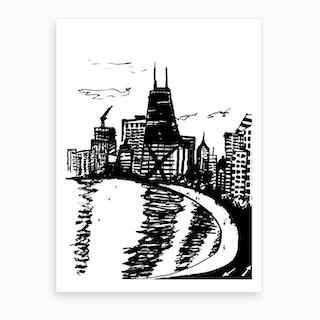 Chicago Lakeshore Drive Art Print