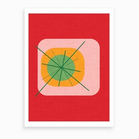 Flower Egg Red Art Print