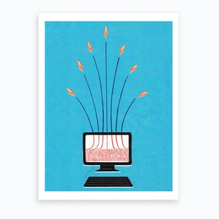 Nuclear War Is Just A Cyber Attack Away Art Print