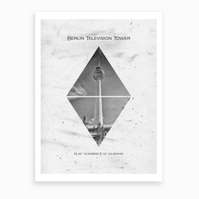 Coordinates Berlin Television Tower Art Print