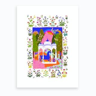 Horse Temple Art Print
