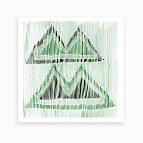 Chilili Watercolor Print In Green Art Print