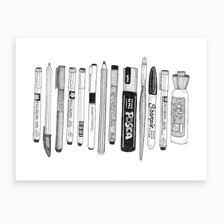 Pens Art Print