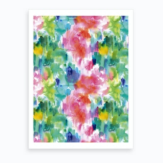 Painterly Waterolor Texture Art Print