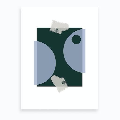 Blue & Green Art Print