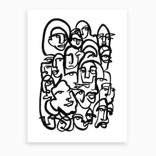 Face Merge Art Print