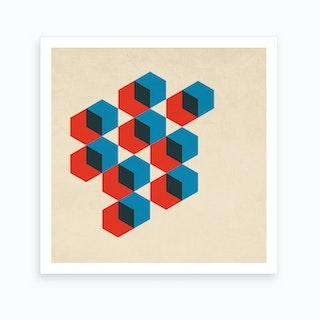Geo Hexagons Art Print