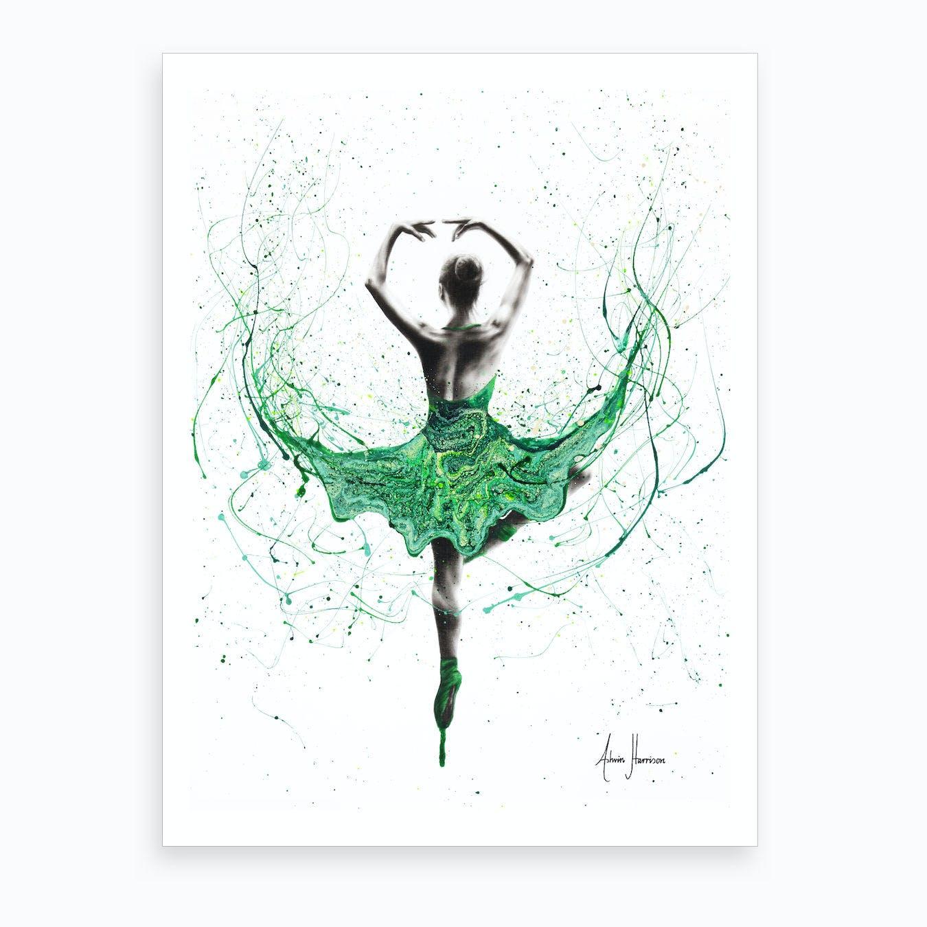 Emerald City Dancer Art Print