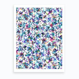 Aquatic Flowers Blue Art Print