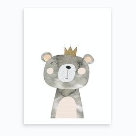 Grey Bear Art Print