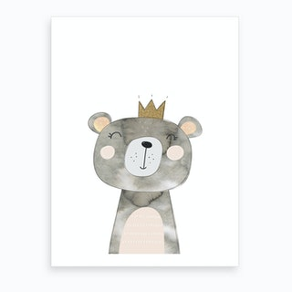 Grey Bear Art Print